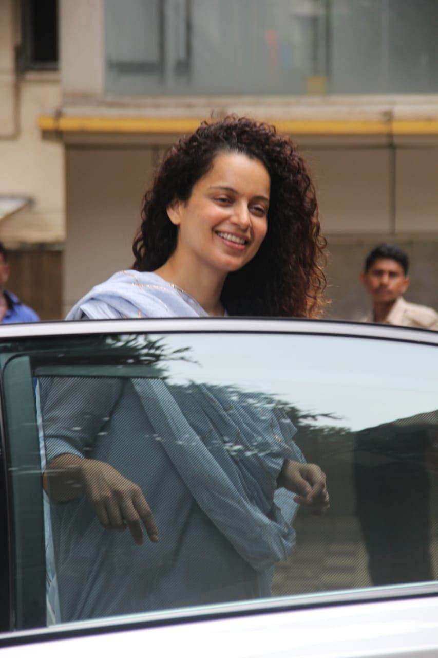 Kangana Ranaut who is preparing for her next 'Dhaakad' was spotted today morning at dance class in Khar.