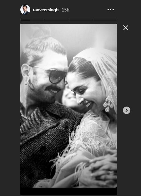 Ranveer Singh shares romantic monochrome picture with wife Deepika Padukone