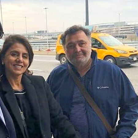 Rishi and Neetu Kapoor leave for Mumbai after being away for 11 months