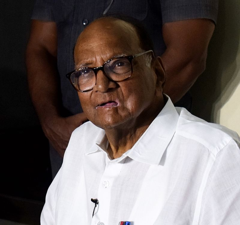 Pune: Sharad Pawar, Nationalist Congress Party chief during a press conference in Pune, Friday, Sept. 27, 2019. (PTI Photo)(PTI9_27_2019_000336B)