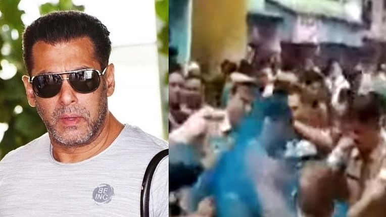 Salman Khan's bodyguard arrested for trashing people, cops use fishing net to control him