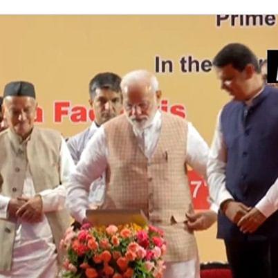PM Modi lays foundation stone for three metro lines in Mumbai