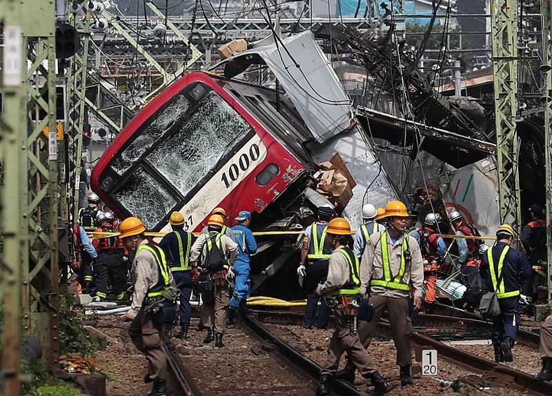 Japan train crash: 1 dead, 30 hurt after collision with truck