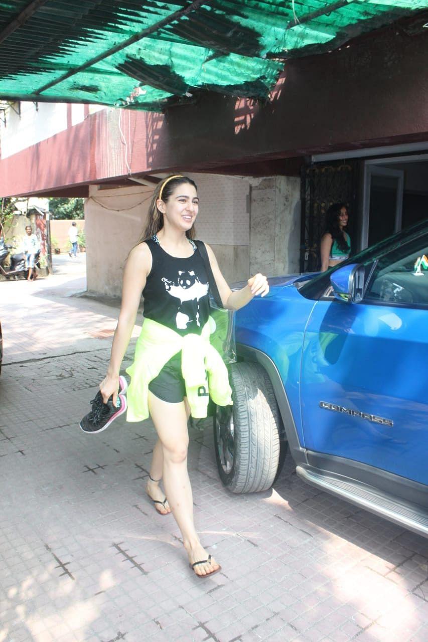 Sara Ali Khan at Pilates.