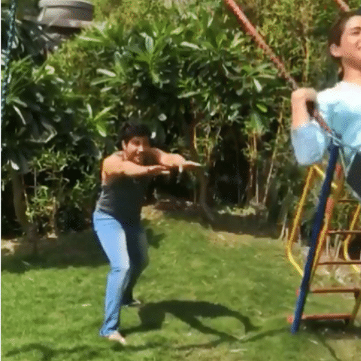 Watch how Varun Dhawan and Sara Ali Khan are having fun on the sets of 'Coolie No. 1'