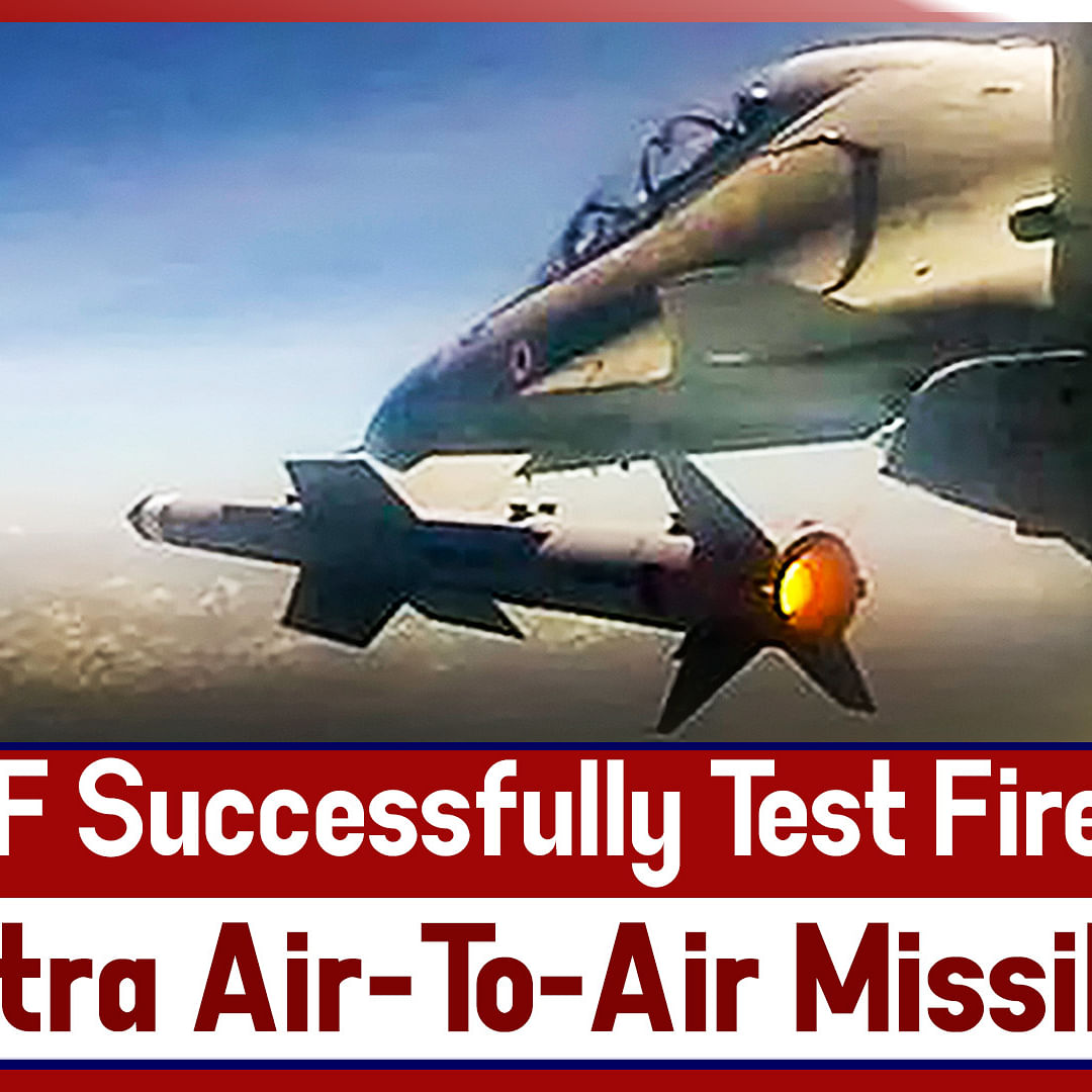 IAF Successfully Test Fires Astra Air-To-Air Missile