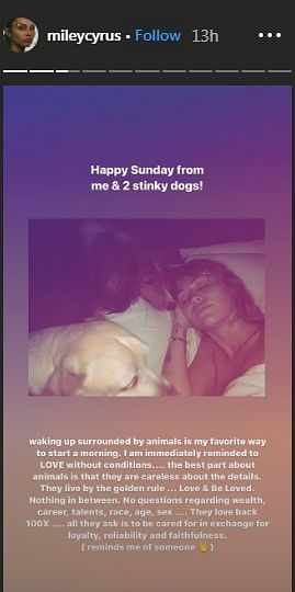 Miley Cyrus shares cryptic posts after breakup with girlfriend Kaitlynn Carter