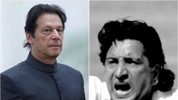Imran Khan (L) and (R) Abdul Qadir