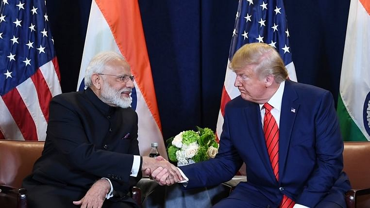 Indian Prime Minister Narendra Modi and US President Donald Trump