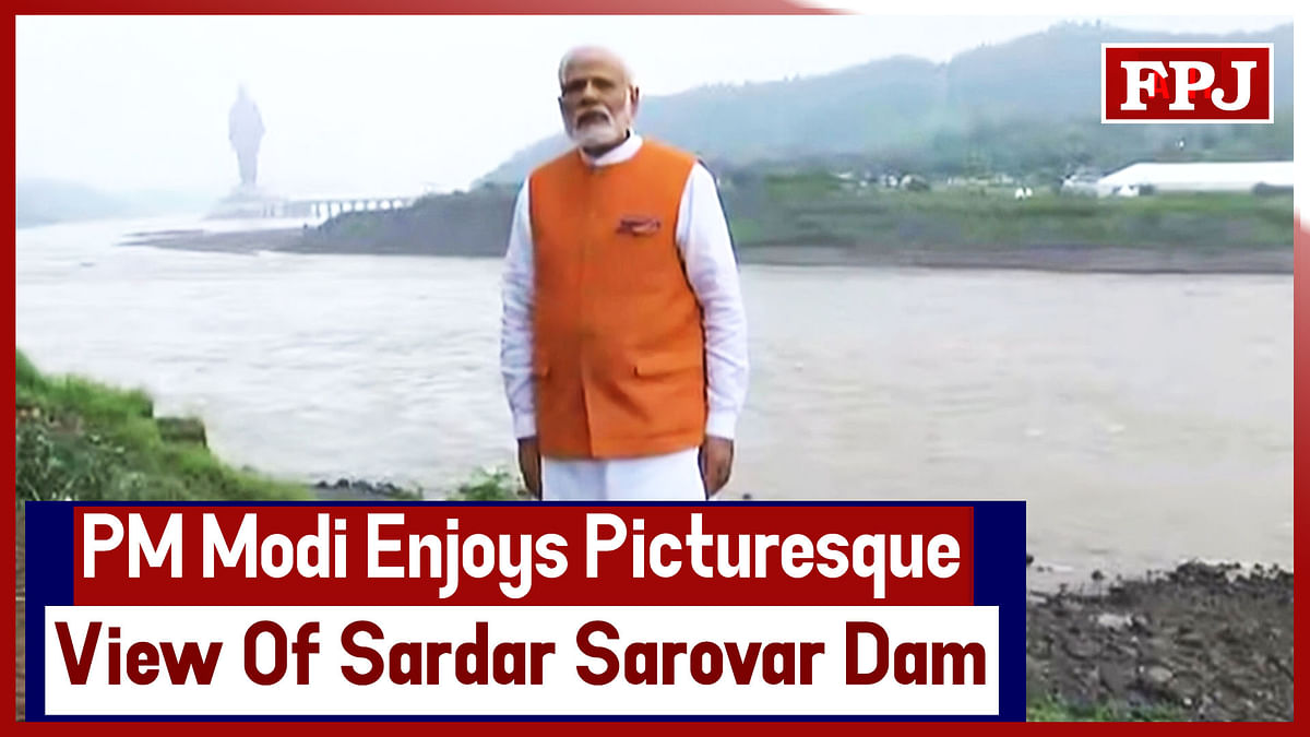 Watch Video: PM Modi Enjoys Picturesque View Of Sardar Sarovar Dam
