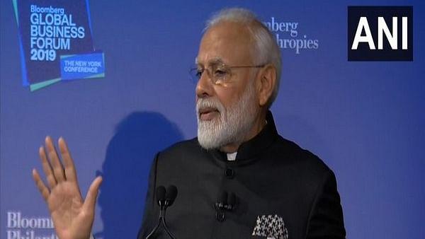 Prime Minister Narendra Modi at the Bloomberg Global Business Forum