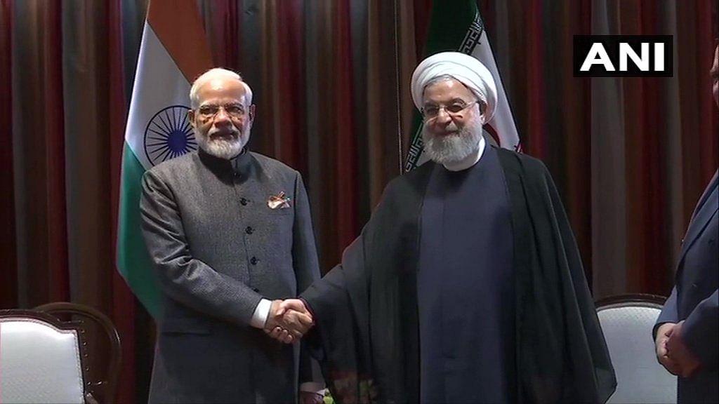 Prime Minister Narendra Modi meets Iranian President Hassan Rouhani in New York.