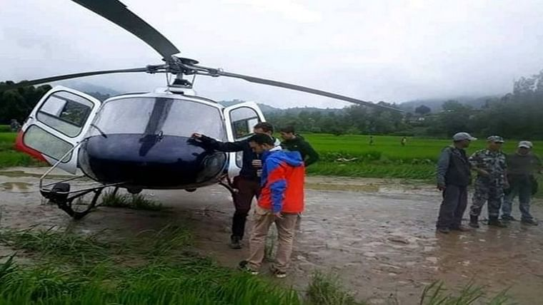 Seven choppers made emergency landing in Nepal's Kavre due to adverse weather