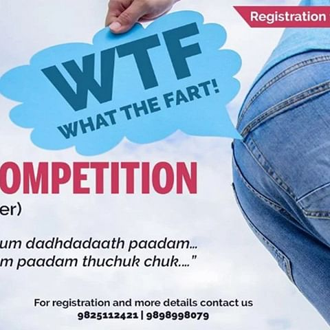 "India's First Farting Contest ""WTF"" begins on 22nd September with Surat Chapter"