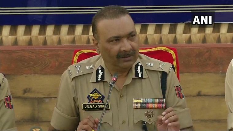 Jammu and Kashmir Director General of Police Dilbag Singh