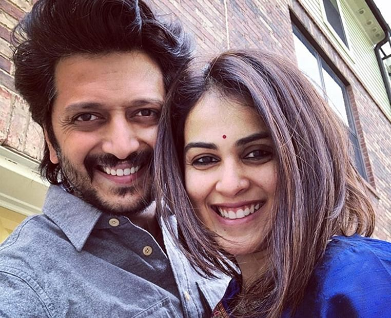 Riteish Deshmukh And Wife Genelia D