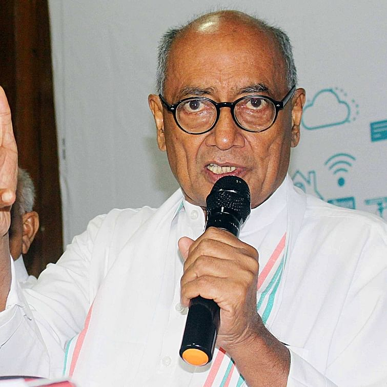 Shameful that Mahatma defamed, Godse glorified on social media: Digvijaya Singh