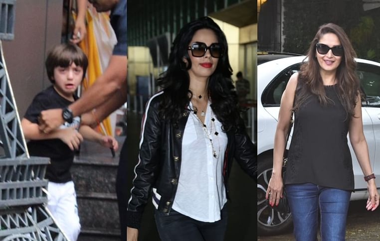 Celebrity Spotting: AbRam Khan, Malika Sherawat, Madhuri Dixit Nene and others spotted