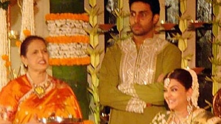 Abhishek Bachchan smitten by Aishwarya Rai in this throwback baby shower picture
