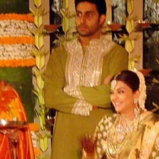 Abhishek Bachchan smitten by Aishwarya Rai in this throwback baby shower picture