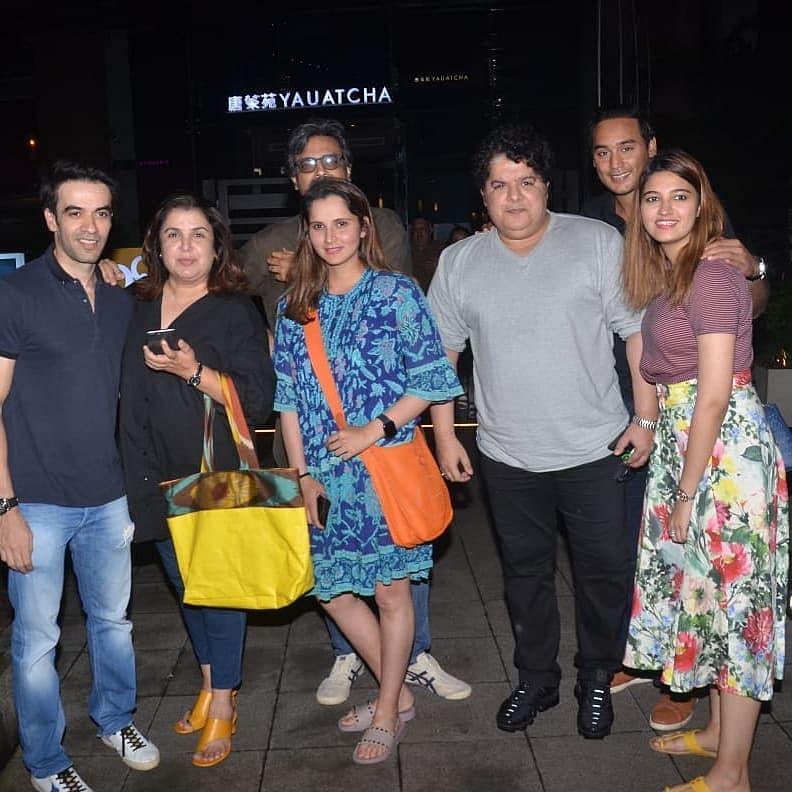 Sania Mirza had enjoyed her dinner with Punit Malhotra, Farah Khan and Sajid Khan at Yauatcha in Bandra-Kurla Complex.
