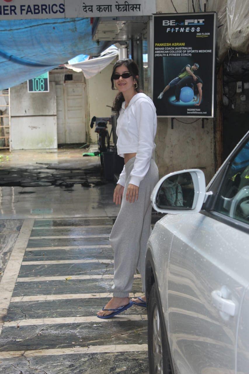 Shanaya Kapoor after her gym sessions