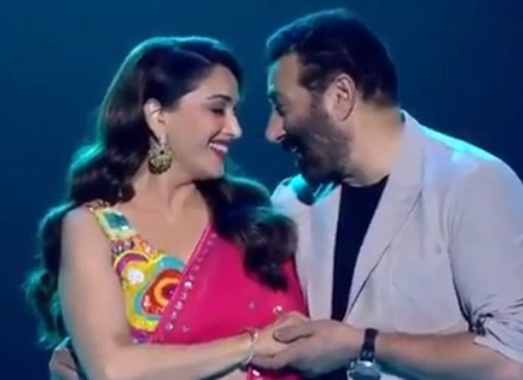 Sunny Deol, Madhuri Dixit recreate their iconic 'Tridev' track 'Mujhe Aisa Lagta Hai'