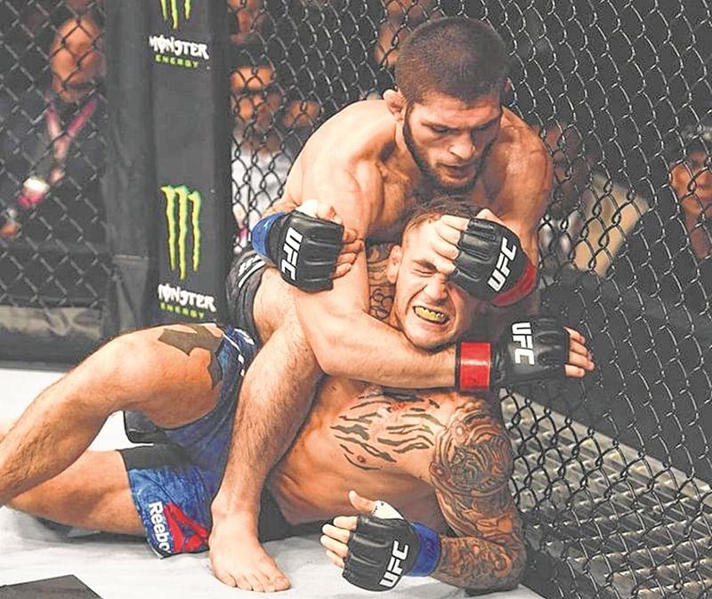 UFC: Khabib Nurmagomedov beats Dustin Poirier