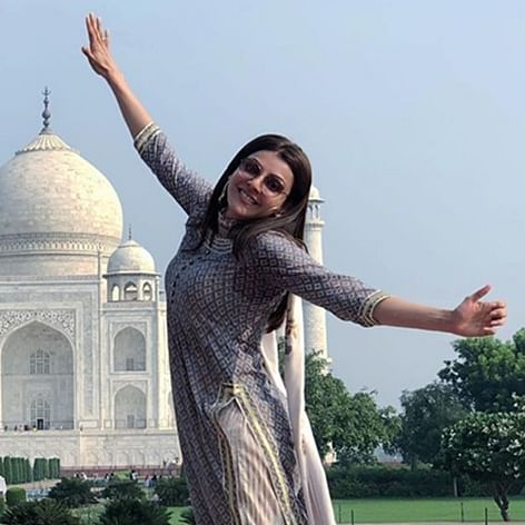 Kajal Aggarwal is mesmerized after her visit to Agra's 'Taj Mahal'