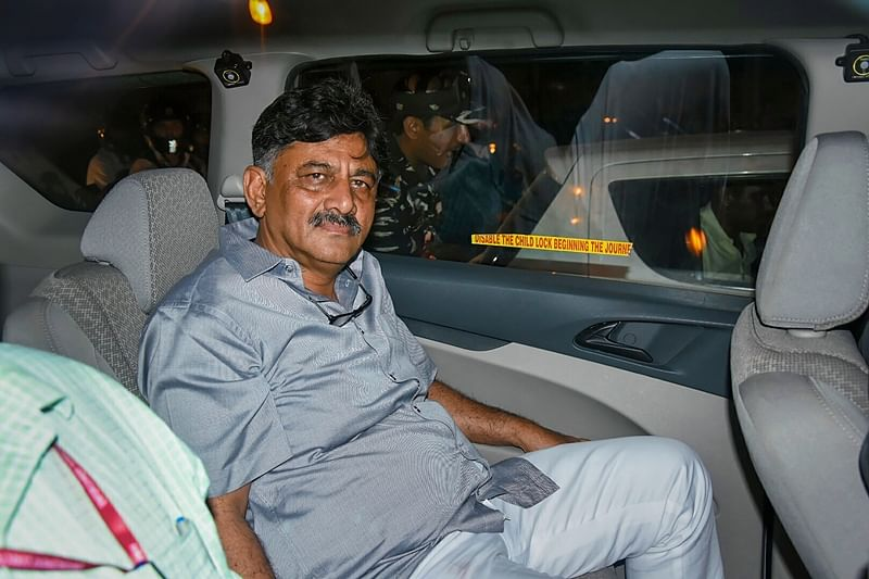 Bengaluru: Congress leader DK Shivakumar admitted in hospital
