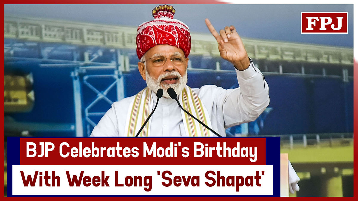 BJP Celebrates Modi's Birthday With Week Long 'Seva Shapat'