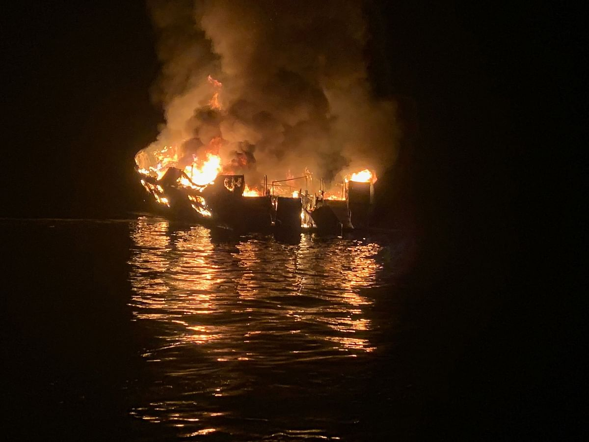 5 rescued, 34 missing in California dive boat fire