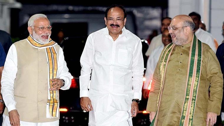 Vice President Venkaiah Naidu, Amit Shah, Rajnath Singh wish PM Narendra Modi on his 69th birthday