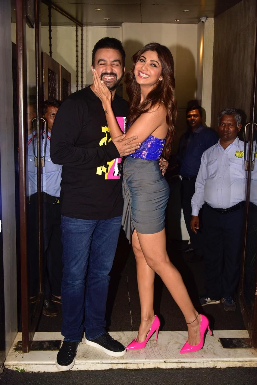 Shilpa Shetty Kundra who will be seen in 'Nikamma' after long gap, celebrated her hubby Raj Kundra's birthday in the city.