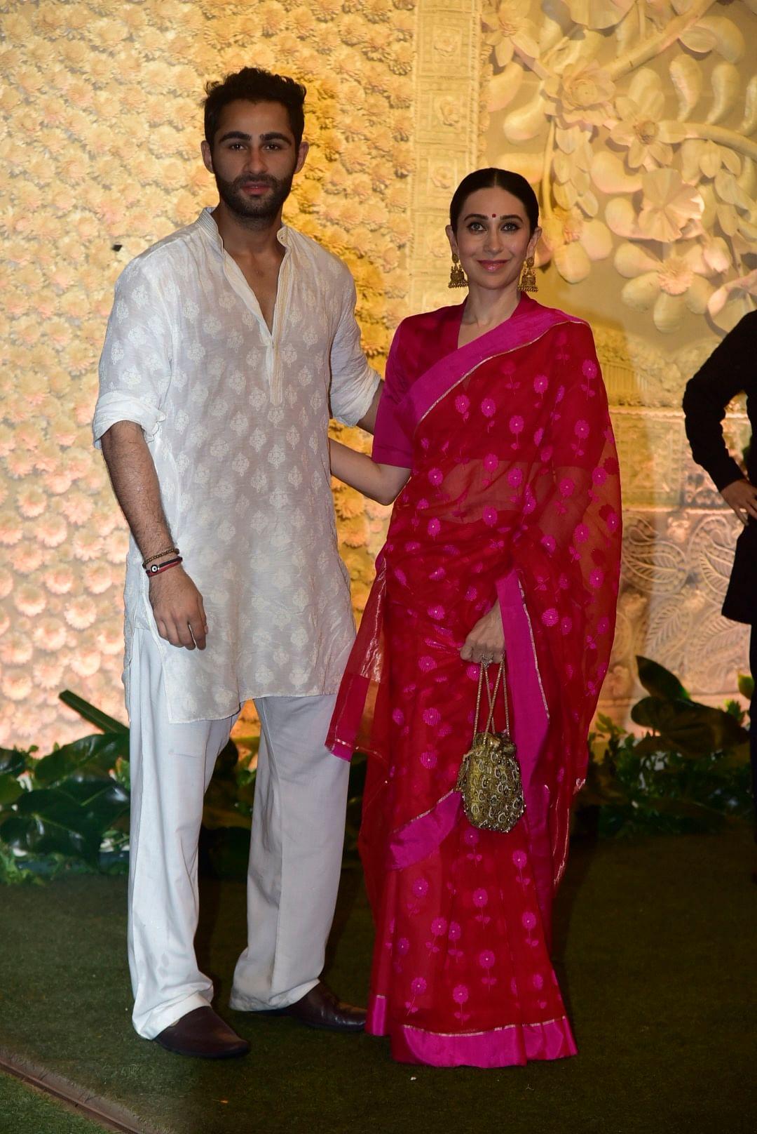 Karsima Kapoor along side cousin Aarman Jain at Ganpati celebrations