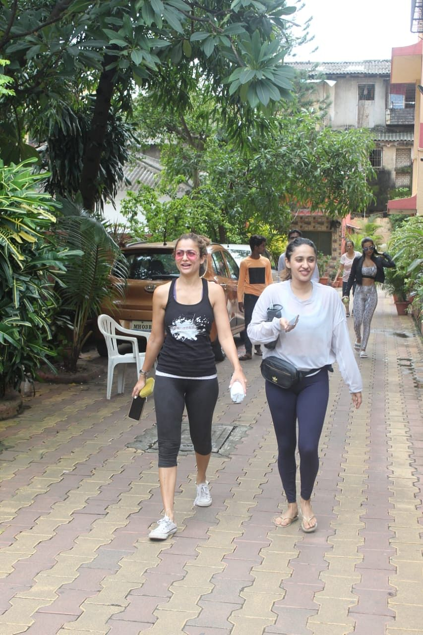 Amrita Arora at Diva Yoga