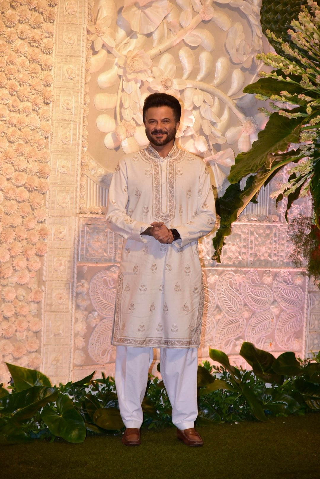Anil Kapoor donning all while for Ganpati celebrations at at Antilia