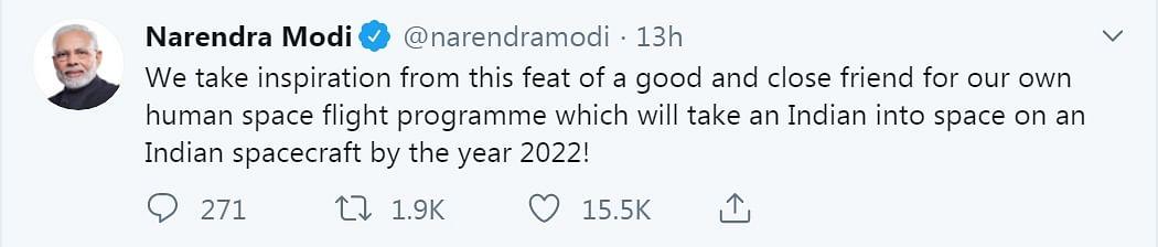 PM Narendra Modi's Tweet