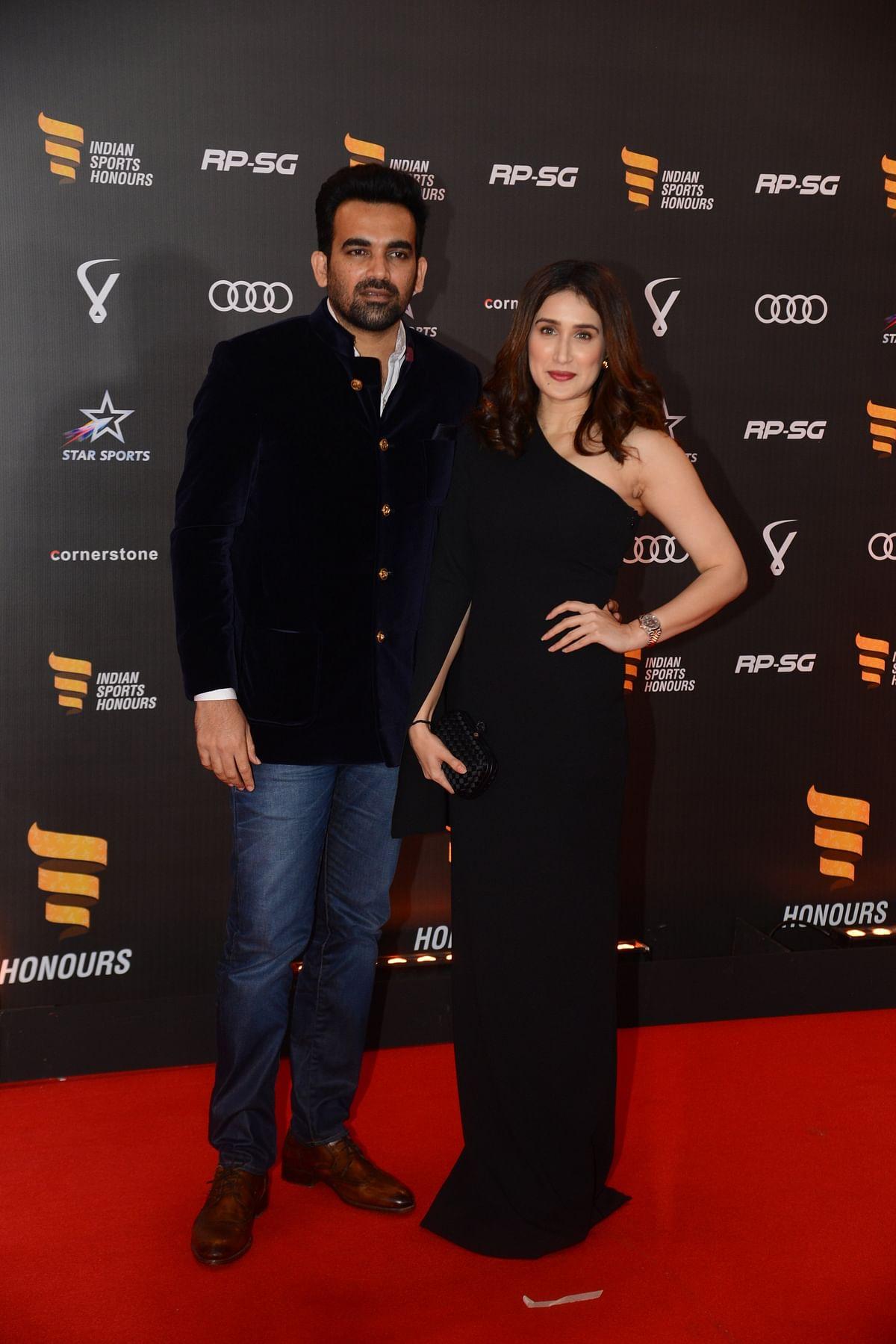 Zaheer Khan with wife Sagarika Ghatge