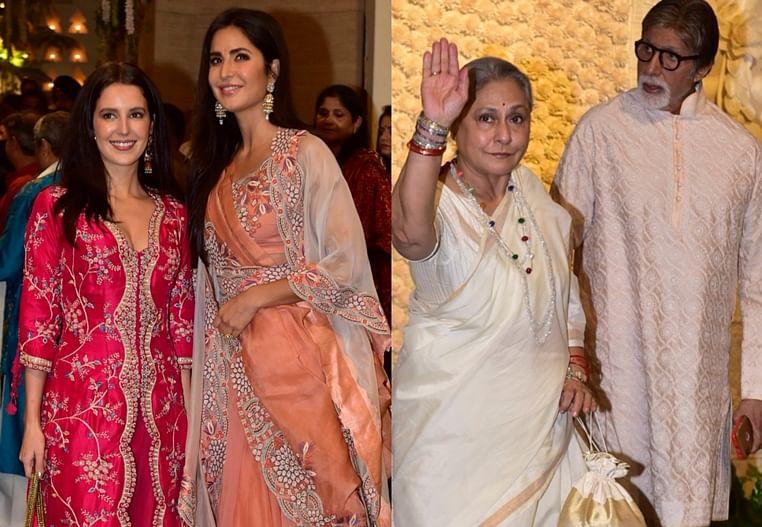 Bachchans, Katrina, Sachin Tendulkar arrive at Ambani's Ganesh Chaturthi celebration at Antilia