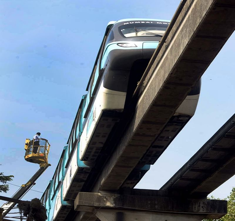 Mumbai: Monorail passengers hang mid-air