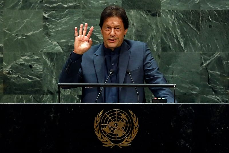 Pakistan Prime Minister Imran Khan on Friday again raised the nuclear bogey