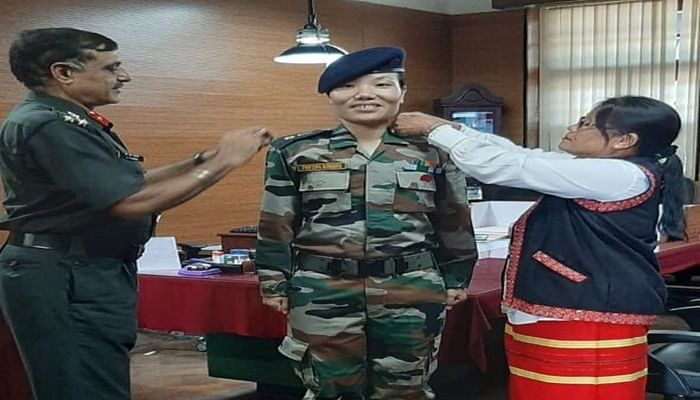 Ponung Doming becomes the first woman to become Lieutenant Colonel in the army