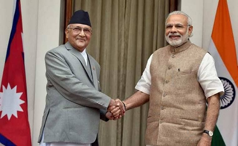 Nepal PM wishes Narendra Modi on his 69th birthday in three different languages