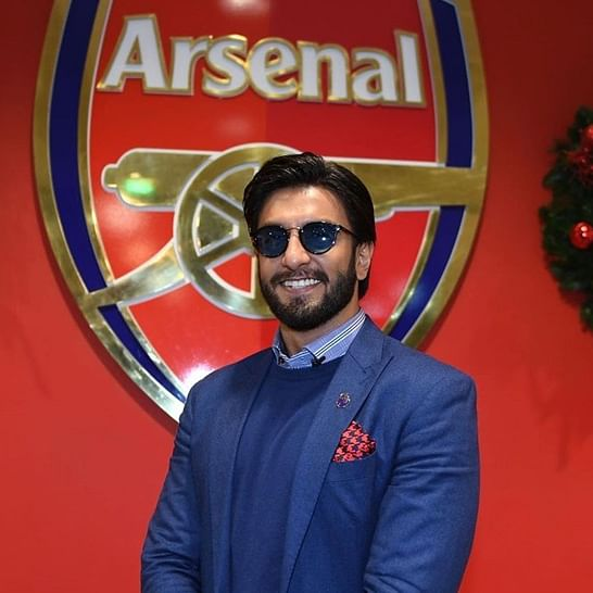 Ranveer Singh croons 'Apna Time Aayega' ahead of Arsenal-Manchester United clash