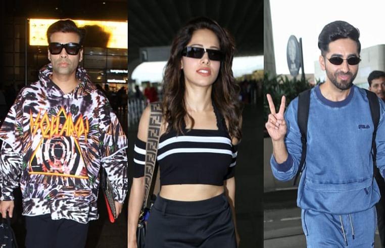 Airport Diaries: Karan Johar, Ayushmann Khurana, Nushrat Bharucha and more spotted