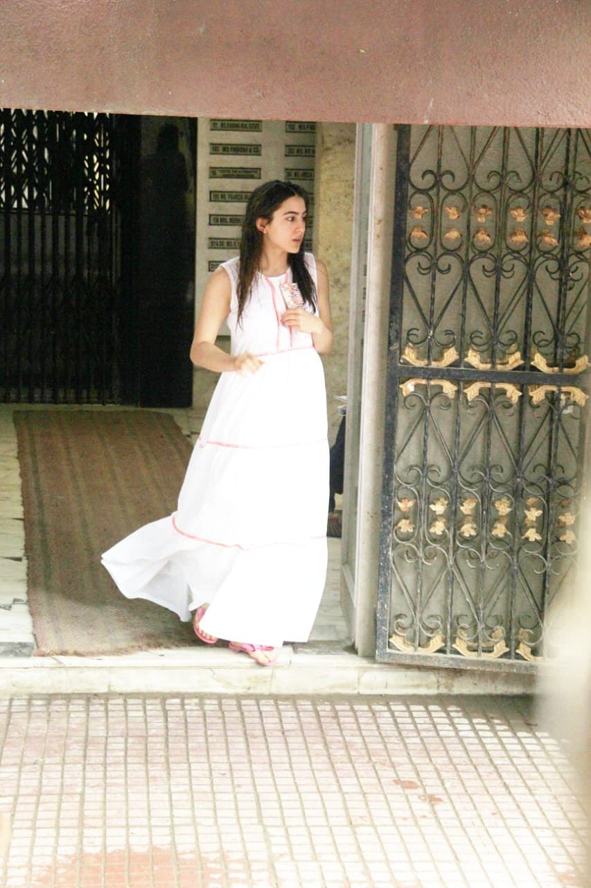 Sara Ali Khan clicked by paps after gym visit