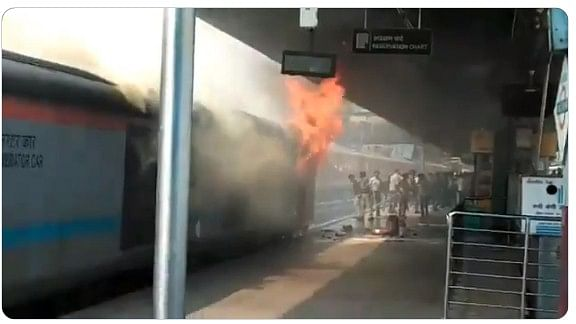 Fire breaks out at New Delhi railway station