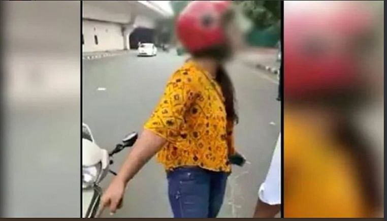 To escape payment of traffic challan, Delhi woman threatens to commit suicide