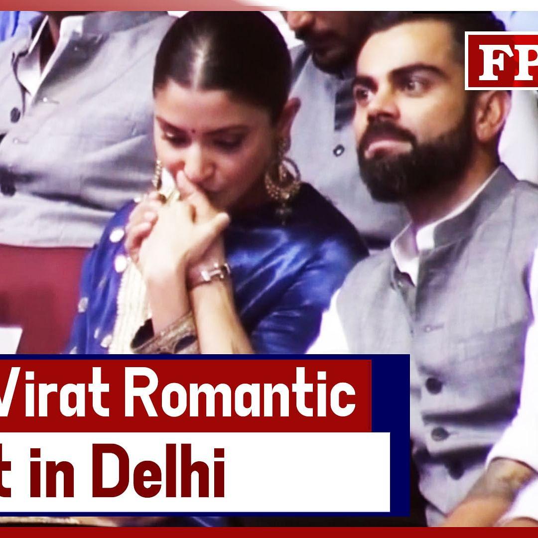 Anushka - Virat Steal Romantic Moments At Event In Delhi